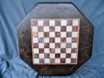 Small 20Th Century Eight Side Marble Chess Table Top