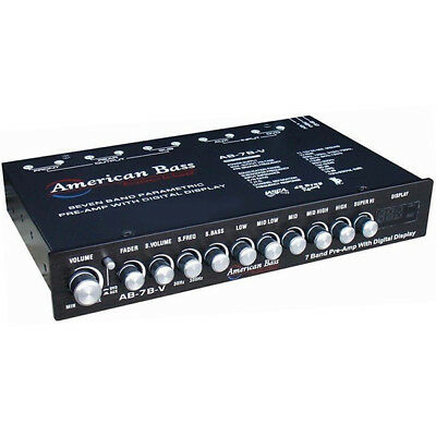 American Bass AB-7B-V High End 7 Band Equalizer w/ Voltage Display