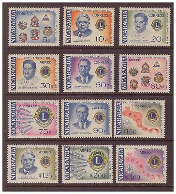 Nicaragua MNH 1958 Convention of Lion set  mint  stamps