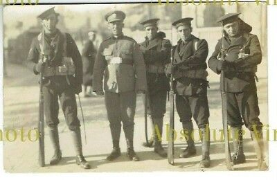 Old Chinese Postcard Portugese On Guard Tienstin China Real Photo Vintage C.1920