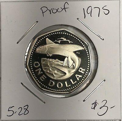 1975 Barbados Proof One Dollar. Collector Coin For Your Set Or Collection.