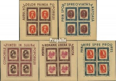 Romania 993-997 Sheetlet (complete issue) unmounted mint / never hinged 1946 you