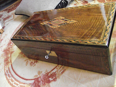 antique writing slope with good inlay