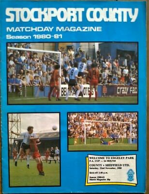 Stockport County  V  Sheffield United 1980-81 Fa Cup