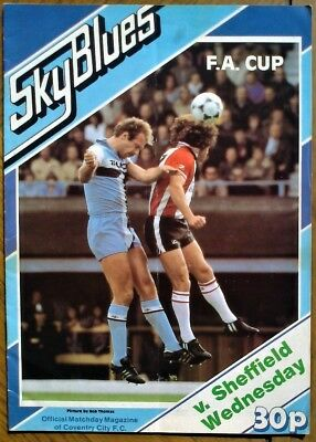 Coventry City  V  Sheffield Wednesday  1981-82 Fa Cup