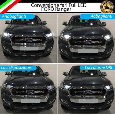 Conversione Fari Full Led Ford Ranger 6000K Xenon Led Canbus H11 + H15 + T10