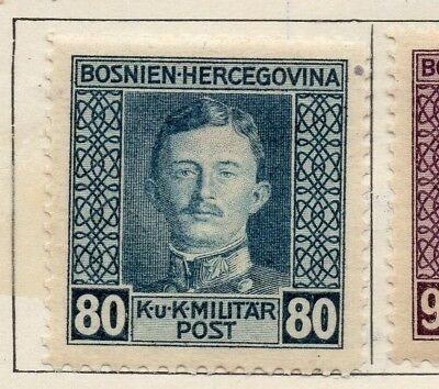Bosnia Herzegovina 1917 Early Issue Fine Mint Hinged 80h. 248699