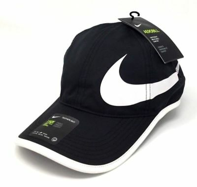 79c7f1f192c NEW Nike Aerobill Featherlight Adjustable Tennis Hat Cap 864100 011 Black