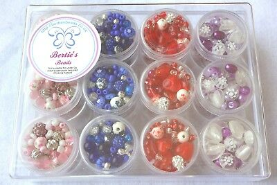 Girls Birthday Party Jewellery Bracelet Making Bead Mix Kit Beads Instructions