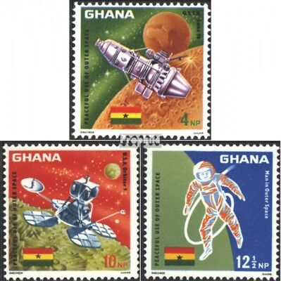 Ghana 310A-312A (complete issue) unmounted mint / never hinged 1967 Space