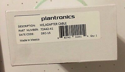 Plantronics ( 72442-41 ) HIS Adapter Cable for Avaya Phones  (New)