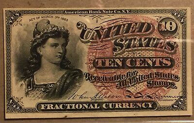 FR 1257 10 Cent Fractional Note - Long Key - 4th Issue - PCGS 62