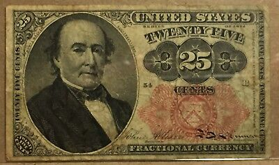 FR 1308 25 Cent Fractional Note - Long Key - 5th Issue -