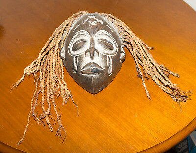 Unique Authentic African Tribal Wooden Hand Carved Mask - Wall Hanging