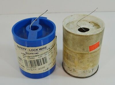 "Lot of 2 Aircraft Aviation Safety Lock Wire .041"" & 020"" Stainless Steel"