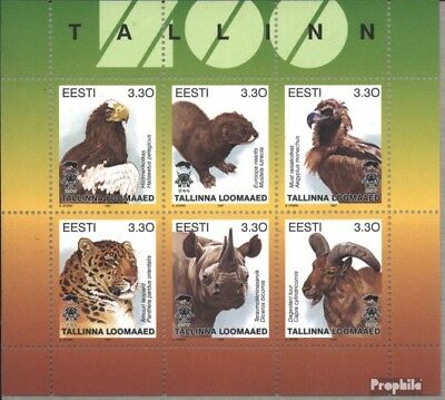 Estonia 294-299 Sheetlet (complete issue) unmounted mint / never hinged 1997 Zoo