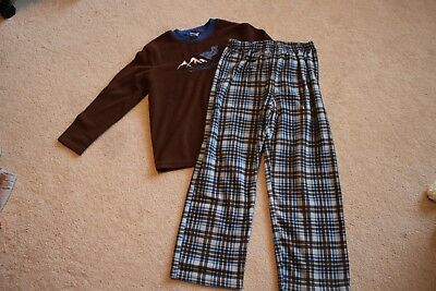 Boys fleece snowboarding pajama set pjs size youth medium