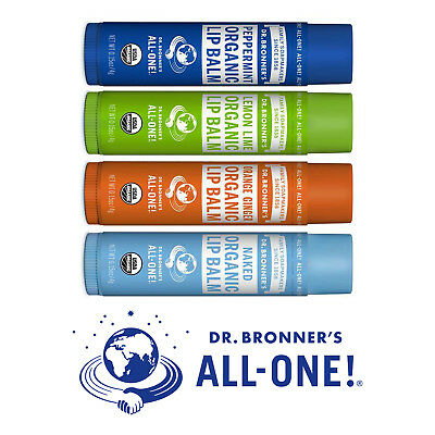 Dr Bronner's Bronners Organic Certified Fair Trade Natural Beeswax Lip Balm 4g