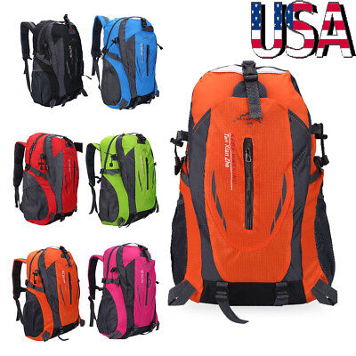 Mens Outdoor Cycling Backpack Camping Daypack Shoulder Bag Hiking Rucksack  40L 5f958fb66036f