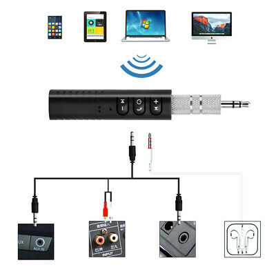Bluetooth Audio Receiver Wireless Music 3.5mm AUX Speakers Car Stereo Adapter