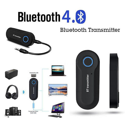 Wireless Bluetooth Transmitter Stereo Music Audio Adapter 3.5mm For TV PC au
