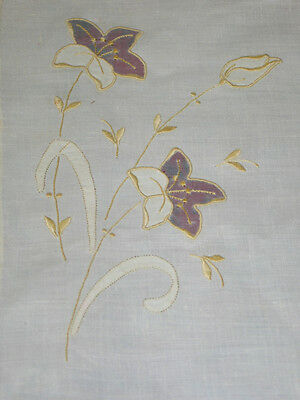 GORGEOUS Antique VTG 8 pc set Madeira Embroidery Napkins~Placemats~TULIPS