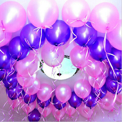 """Top Quality Pearlised Latex Party Birthday Wedding Balloons Extra Strong 10""""-12"""""""