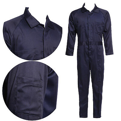 Mens Drill Mechanics Long Sleeve Coveralls Overalls Workwear system test
