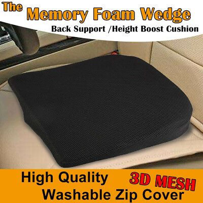Memory Foam Wedge Car Seat/Chair Cushion Lower Base Posture Support