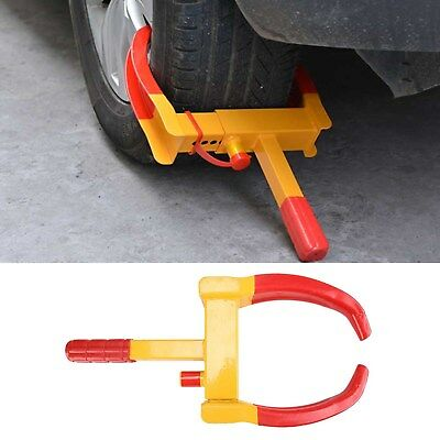 Security Heavy Duty Wheel Clamp 2 Key Anti-Theft Lock For Trailer Caravan Car