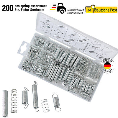 Federn Sortiment Druckfedern 200 Stück Feder Set Zugfedern Spring Assortment Kit