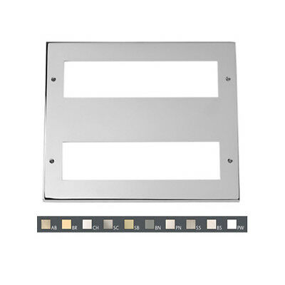 MP516BSLarge Media Plate (2 X 8 Mod) - Brushed Stainless
