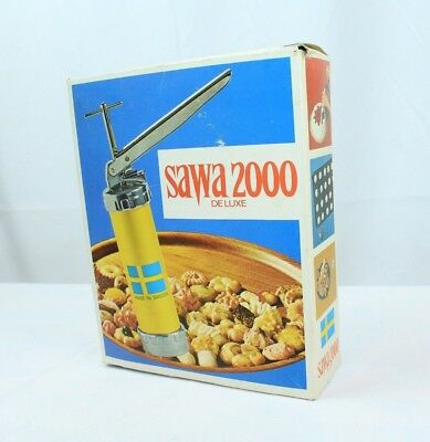 Vintage SAWA 2000 Deluxe Cookie Cutter Press Decorate Made n Sweden Original Box