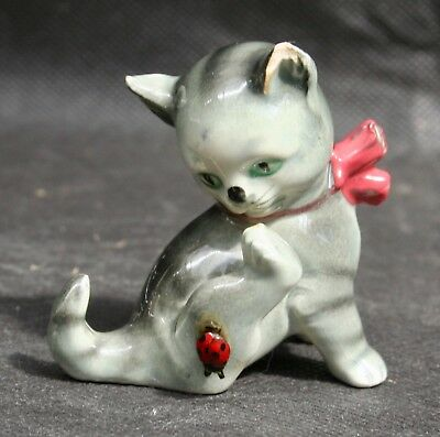 Small Goebel Kitten with Ladybird West Germany SK36A