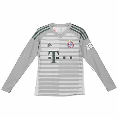 Official Bayern Munich Home Goalkeeper Jersey Shirt 2018-19 adidas Kids Tee Top