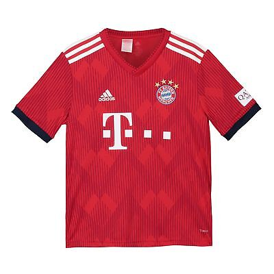 Official Bayern Munich Football Home Jersey Shirt 2018-19 adidas Kids Tee Top