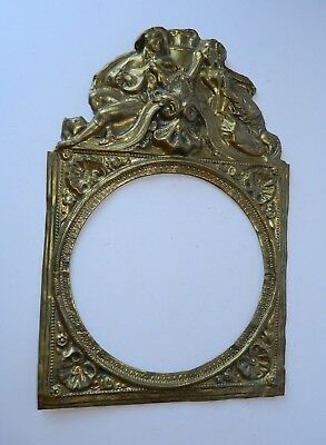 "Antique French Brass Clock Face Surround 8"" Face"