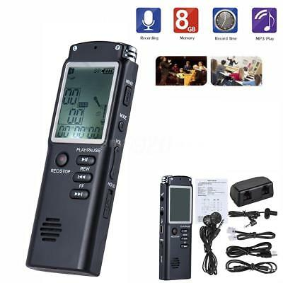 8GB Mini LCD USB Digital Rechargeable Audio Voice Recorder Recording Device N7N8