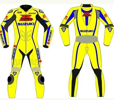 Top Quality Suzuki Motorbike Leather Suits Motogp Racer  Motorcycle Leather Suit