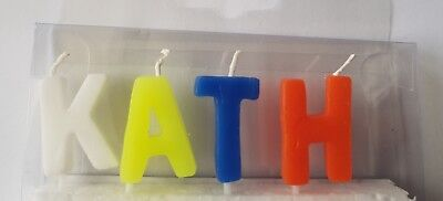 Bespoke Alphabet BOY & GIRL Name Birthday Candles Personalised up to 10 letters