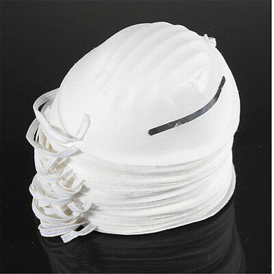 10xDust Mask Disposable Cleaning Molded Face Mask Respirator Safety Non-Toxic HC
