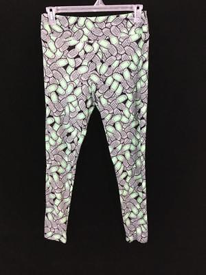 Lularoe leggings size TC tall curvy green black cell phone gray