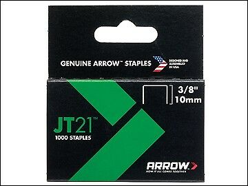 Arrow JT21 T27 Staples 10mm (3/8in) Box 1000 ARRJT2138S