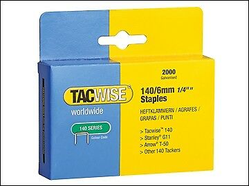 Tacwise 140 Heavy-Duty Staples 6mm (Type T50, G) Pack 2000 TAC0345
