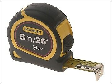 Stanley Tools Tylon Pocket Tape 8m/26ft (Width 25mm) Loose STA130656N
