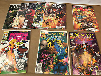 ALPHA FLIGHT Lot of 9 Comics Marvel Chaos War X-Men Blast from the Past 1 2