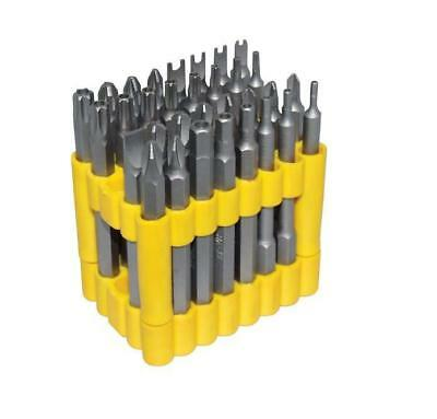 32PC 75mm Hollow Torx Star Hex Security Tamperproof Screwdriver Bits LONG REACH