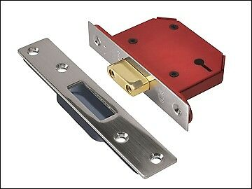 "UNION StrongBOLT 2103S 3 Lever Mortice Deadlock SS 81mm 3"" Visi UNNY2103SS30"