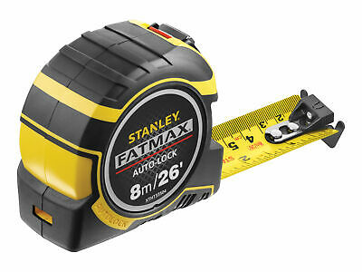 Stanley Tools FatMax Autolock Pocket Tape 8m/26ft (Width 32mm) STA033504