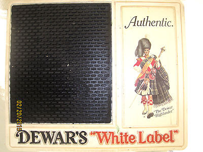 Vintage Dewars White Label Barmat Highlander 12 inch x 10 in